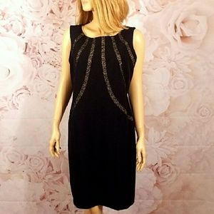 Fitted Jet Black Dress